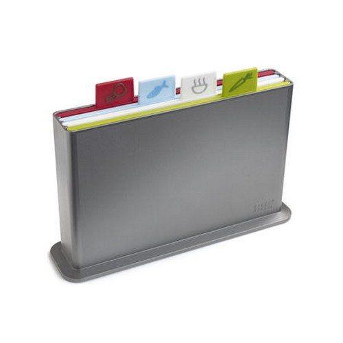 Index skærebræt-sæt lille - plast sølv/multifarver