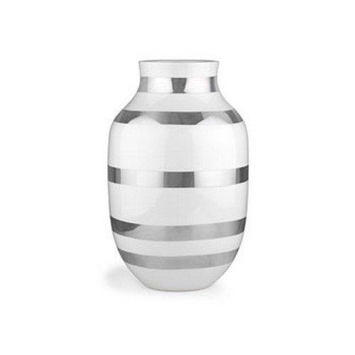 Kähler omaggio vase H305 Ø195 Sølv