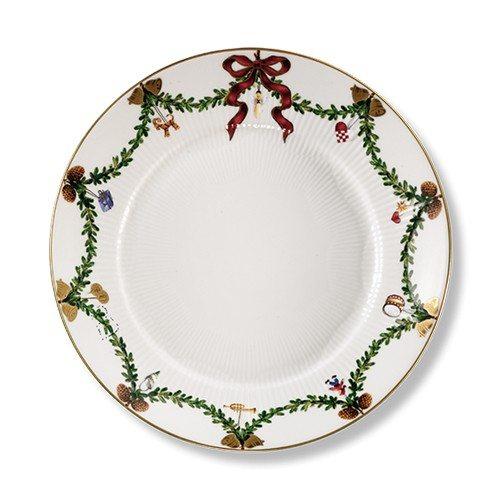 Stjerne Riflet Jul tallerken 22cm.