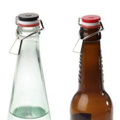 Smarte låg til flasker fra Westmark. Pakke med 3 stk.