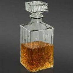 Glas karaffel med låg 900 ml
