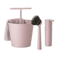 Zone opvaskesæt rosa