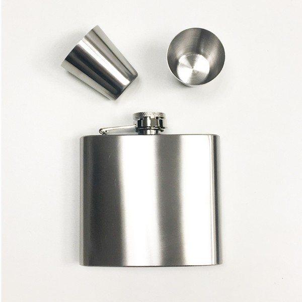 Lommelærke med 2 kopper i rustfrit stål - godt TILBUD