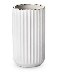 Lyngby vase med guldkant