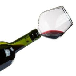 Glas til vinflaske