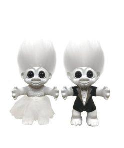 Lykketrold brudepar