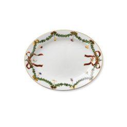 Stjerne Riflet Jul oval fad 37 cm