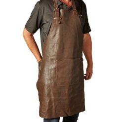 Brunt læderforklæde fra Da'core