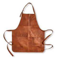 Lysbrun læderforklæde fra Stuff1
