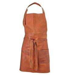 Lysbrun læderforklæde fra Stuff