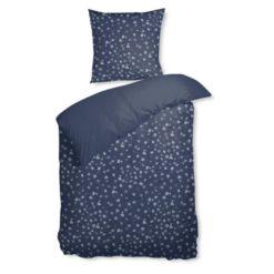 Blomstret sengesæt i bomuldssatin