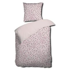 Blomstret sengesæt i rosa