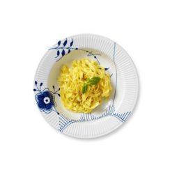 Blå Mega Riflet pastatallerken