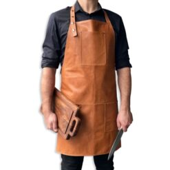 Lysebrun Læderforklæde fra Stuff