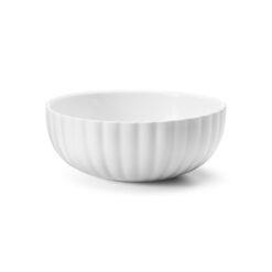 morgenmadsskål i hvid porcelæn