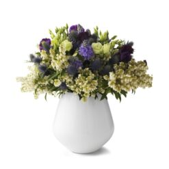 Hvid Riflet vase