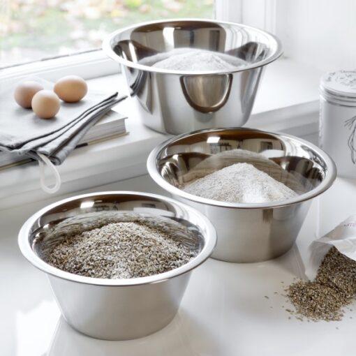 Blank polere køkkenskåle